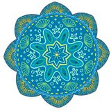 Mandala Vector Design Element Décoration ronde d'ornement Configuration de fleur [02] Motif floral stylisé complexe illustration stock