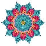 Mandala Vector Design Element Décoration ronde d'ornement Configuration de fleur [02] Motif floral stylisé complexe illustration de vecteur