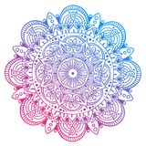 Mandala Vector Design Element Décoration ronde d'ornement Configuration de fleur [02] Motif floral stylisé complexe Images stock