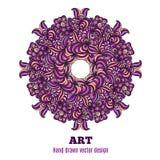 Mandala vector design. Vector hand drawn mandala. Decor for your design. Lace ornament. Round pattern, doodle art Stock Illustration