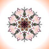mandala Vector el ornamento en colores del melocotón, elemento decorativo redondo para su diseño ilustración del vector