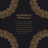 Arabic ornaments luxury design. Golden decorative graphic elements on black background. Mandala vector frame and corner borders. Arabic ornaments luxury design vector illustration
