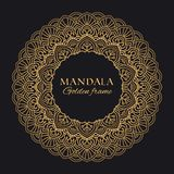 Mandala vector geometric round frame. Oriental ornament luxury design royalty free stock photography