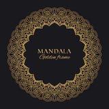 Mandala vector geometric round frame. Oriental ornament luxury design stock photo