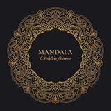 Mandala vector geometric round frame. Oriental ornament luxury design stock image