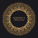 Mandala vector geometric round frame. Oriental ornament luxury design stock images