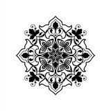 Mandala Vector Ilustration stock afbeeldingen