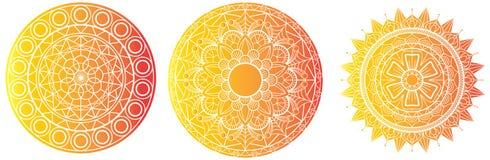 Mandala Vector Mandal-hohes Detail der Blumenmandalablumenmalbuchseiten-Schablone lizenzfreie abbildung