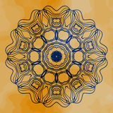 Mandala vector. Mehndi inspired mandala of henna Stock Photo