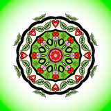 Mandala. Vector ornament, colorful round decorative element Royalty Free Stock Photos