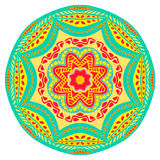 Mandala. Vector ornament, colorful round decorative element in trendy colors for your design Royalty Free Stock Photo