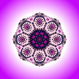 Mandala. Vector ornament in lavender colors, round decorative element for your design Royalty Free Stock Photos