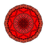 Mandala. Vector ornament in strawberry colors, round decorative element for your design Royalty Free Stock Photos