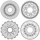 Mandala. Vector set of 4. Royalty Free Stock Photography