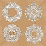 Mandala. Vector set round ornament pattern Royalty Free Stock Photo
