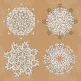 Mandala. Vector set round ornament pattern Stock Images