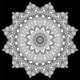 Mandala Vector tattoo. Arabic, Indian, asian motifs. Stock Photography