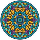 Mandala. Vector traditional indian mandala. Orient tribal circle sign illustration.Colorful ethnic design element Stock Image