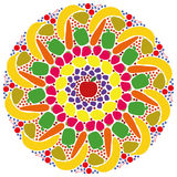 Mandala Vegetables Fruits Colors Image libre de droits