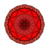 mandala Vektorprydnad i jordgubbefärger, rund dekorativ beståndsdel för din design Royaltyfria Foton
