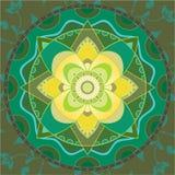Mandala verde illustrazione di stock