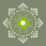 Mandala verde bonita da mola da flor Ilustração Royalty Free