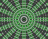 Mandala verde de la estrella Imagenes de archivo