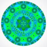 Mandala verde de la felicidad ilustración del vector