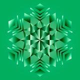 Mandala verde, ornamento geométrico, ano novo do floco de neve Fotos de Stock