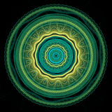 Mandala verde y amarilla Fotografía de archivo libre de regalías