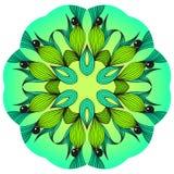 Mandala verde y azul Foto de archivo libre de regalías