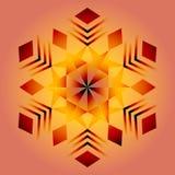 Mandala vermelha, ornamento geométrico, ano novo do floco de neve imagem de stock