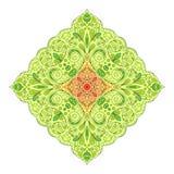 Mandala vert clair à feuilles caduques en pastel Photos stock