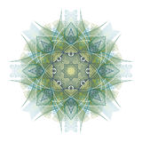 Mandala vert d'isolement sur le blanc Photos stock