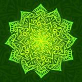 Mandala vert d'ornement de fleur Illustration Libre de Droits