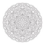Mandala. Vintage hand drawn decorative  illustration. round lace design Stock Photography
