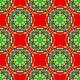 Mandala vintage tribal seamless pattern vector illustration Stock Image