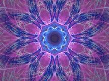 Mandala viola illustrazione di stock