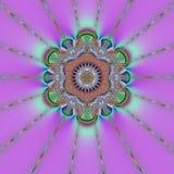 Mandala viola illustrazione vettoriale