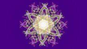 Mandala viva del fractal en diseño de la acuarela en el fondo ultravioleta Animación decorativa Fondo video abstracto ilustración del vector