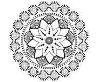 Mandala voor Henna, Mehndi, tatoegering, decoratie vector illustratie