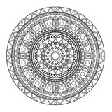 Mandala voor het kleuren van boek Royalty-vrije Stock Fotografie