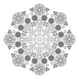 Mandala voor jonge geitjes met bloemen in de cirkel Royalty-vrije Stock Afbeelding