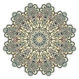 Mandala voor kunst, volwassene en kinderen die boek kleuren, zendoodle De hand wordt getrokken om zentangle kan gebruikt creativi Royalty-vrije Stock Afbeelding