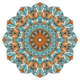 Mandala voor kunst, volwassene en kinderen die boek kleuren, zendoodle De hand wordt getrokken om zentangle kan gebruikt creativi Stock Fotografie
