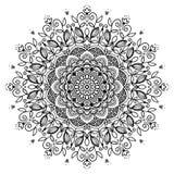 Mandala w czarny i biały Obraz Royalty Free