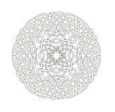 Mandala w ezoteryka stylu Set pierścionki celtów warkocze ilustracji