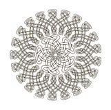 Mandala w ezoteryka stylu Set pierścionki celtów warkocze ilustracja wektor