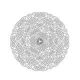 Mandala w ezoteryka stylu Set pierścionki celtów warkocze royalty ilustracja