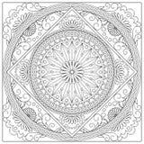 Mandala w kwadrat royalty ilustracja